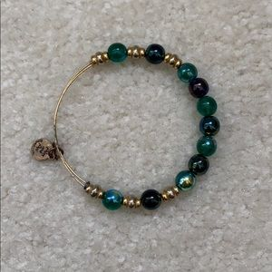Alex and Ani Gold/Blue/Green Bangle Bracelet